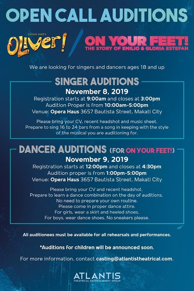 Atlantis Theatrical announced open auditions