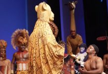 Onstage proposal at Lion King