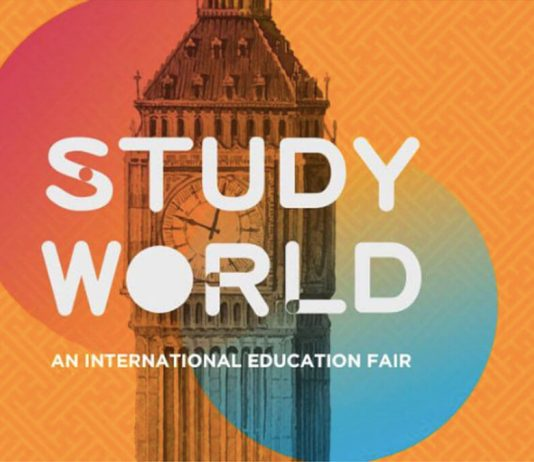 Study World UK was moved to March
