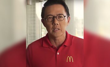 Kenneth Yang appears on video for McDo PH