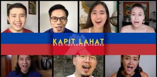 Ryan Cayabyab writes a new song, Kapit Lahat