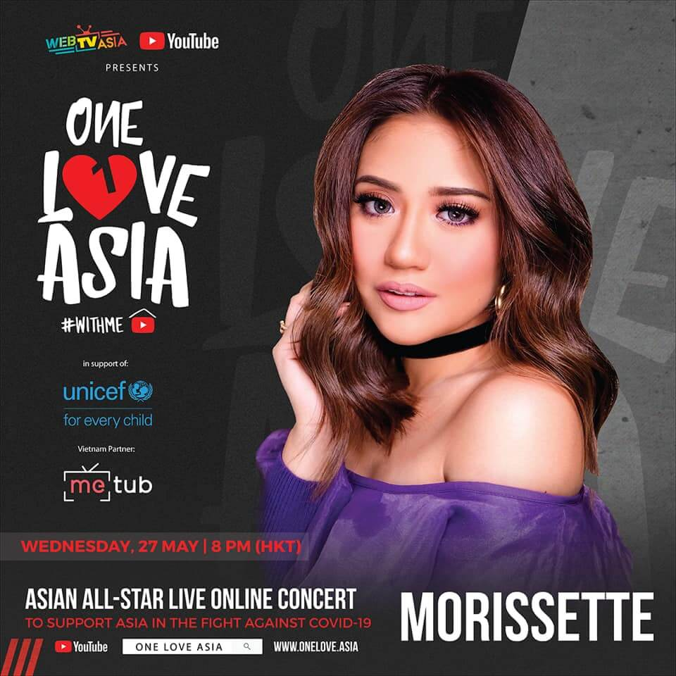 Morisette Amon performs in One Love Asia