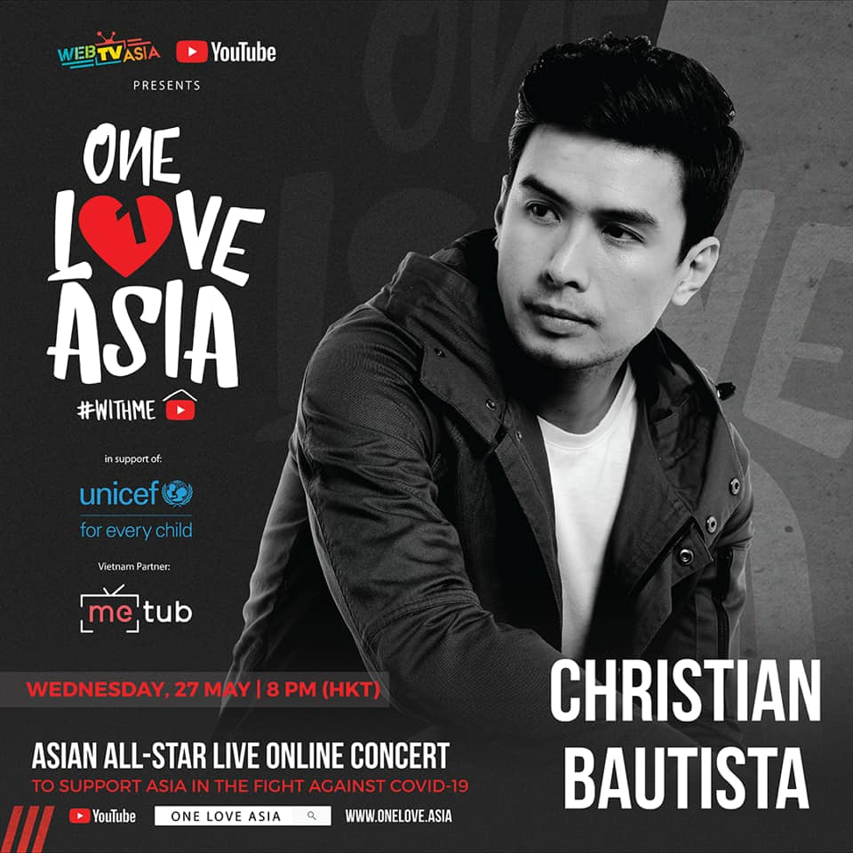 Christian Bautista performs in One Love Asia