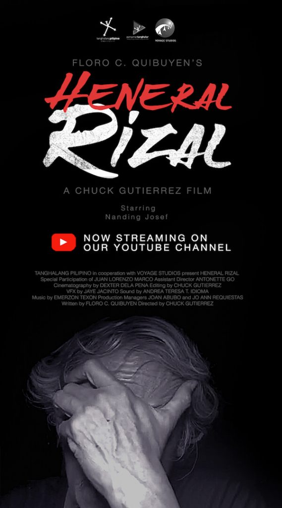 TP streams Heneral Rizal on YouTube