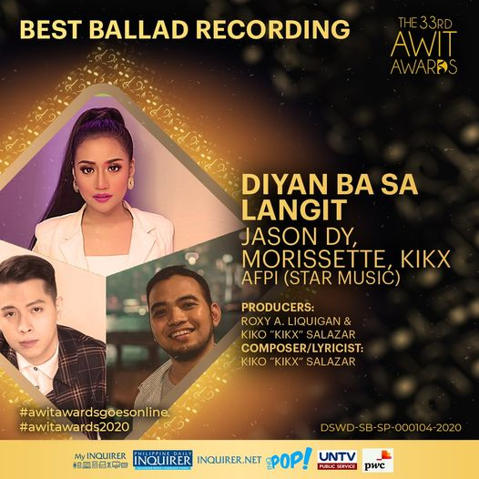 Awit Awards 2020 Best Ballad Recording
