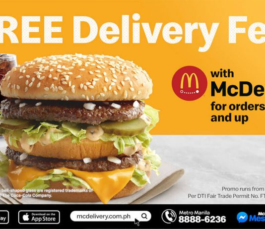 Free McDelivery fee for P200 orders or above