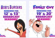 Emmy-winning Bob's Burgers and Family Guy renewed