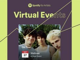 Spotify allows virtual event listings for artists