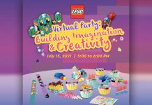 LEGO Virtual Party happens on July 15